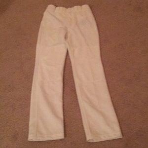 Mizuno Mens White Baseball Pants